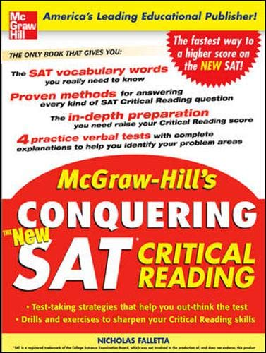 9780071453981: McGraw-Hill's Conquering the New SAT Critical Reading