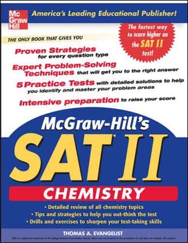 9780071455022: McGraw-Hill's SAT Subject Test: Chemistry