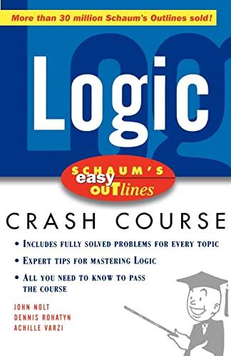9780071455350: Schaum's Easy Outline of Logic (Schaum's Easy Outlines)