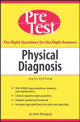 9780071455510: Physical Diagnosis PreTest Self Assessment and Review, Sixth Edition (Pretest Clinical Medicine)
