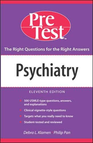 9780071455541: Psychiatry: PreTest Self-Assessment and Review, Eleventh Edition