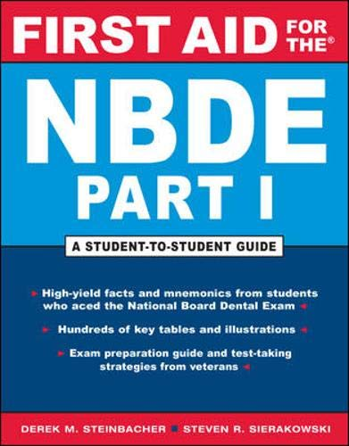 9780071456371: First Aid for the NBDE Part I (First Aid Series) (Pt. 1)