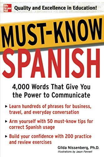 9780071456432: Must-Know Spanish: Essential Words For A Successful Vocabulary