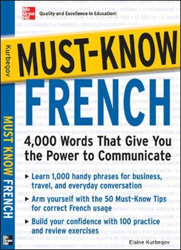 9780071456449: Must-Know French: Essential Words For A Successful Vocabulary