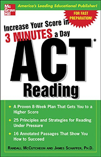 9780071456678: Increase Your Score In 3 Minutes A Day: ACT Reading
