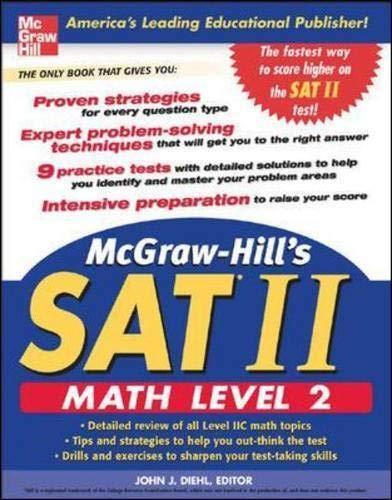 9780071456722: McGraw-Hill's SAT II: Math Level 2 (McGraw-Hill's SAT Math Level 2)