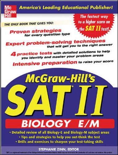 9780071456739: McGraw-Hill's SAT Subject Test: Biology E/M: Biology-E and Biology-M (McGraw-Hill's SAT Biology E/M)