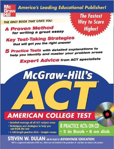 9780071456814: McGraw-Hill's ACT WITH CD-ROM (McGraw-Hill's ACT (W/CD))