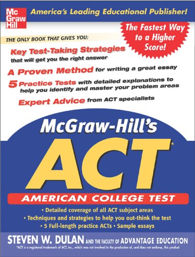 9780071456821: McGraw-Hill's ACT