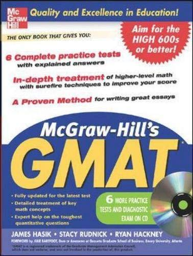 9780071456845: McGraw-Hill's GMAT with CD-Rom (McGraw-Hill's GMAT (W/CD))