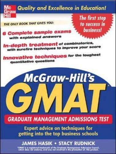 9780071456852: McGraw-Hill's GMAT
