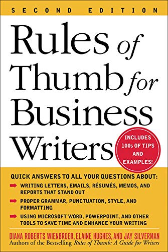 9780071457576: Rules of Thumb for Business Writers