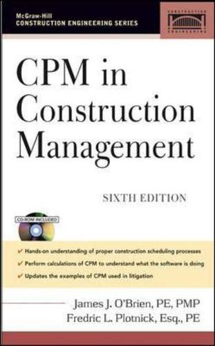 9780071457699: CPM in Construction Management (Pro Engineering)