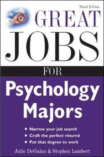 9780071458764: Great Jobs for Psychology Majors, 3rd ed. (Great Jobs For! Series)
