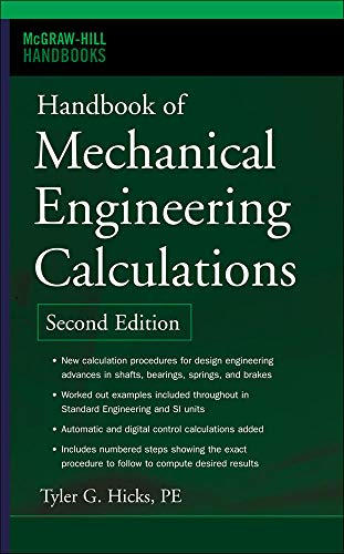 9780071458863: Handbook of Mechanical Engineering Calculations, Second Edition