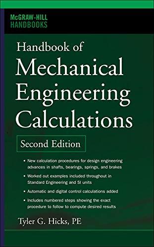 9780071458863: Handbook of Mechanical Engineering Calculations, Second Edition (Mcgraw-Hill Handbooks)