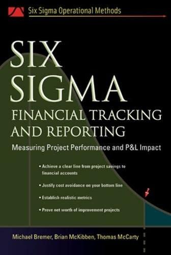 9780071458917: Six Sigma Financial Tracking and Reporting: Measuring Project Performance and P&L Impact (Six SIGMA Operational Methods)