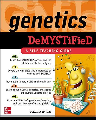 9780071459303: Genetics Demystified: A Self-teaching Guide