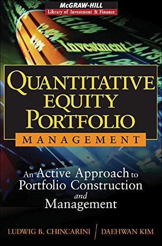 9780071459396: Quantitative Equity Portfolio Management: An Active Approach to Portfolio Construction and Management