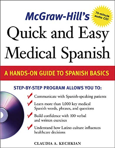 9780071459648: McGraw-Hill's Quick and Easy Medical Spanish w/Audio CD