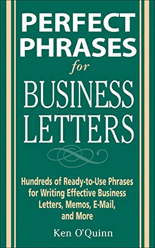 9780071459761: Perfect Phrases for Business Letters (Perfect Phrases Series)