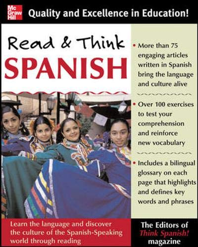 9780071460330: Read And Think Spanish (Book): The Editors of Think Spanish Magazine: Learn the Language and Discover the Culture of the Spanish-Speaking World Through Reading