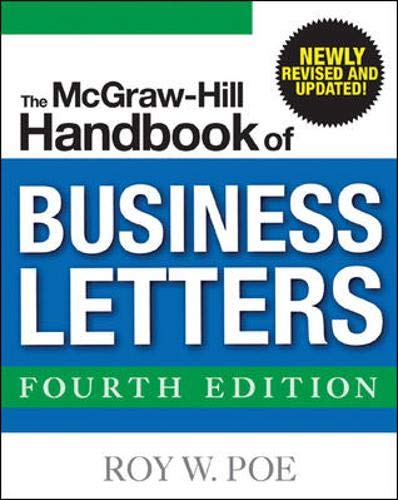 9780071460804: The McGraw-Hill Handbook of Business Letters, 4/e