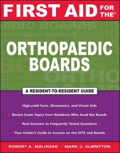 9780071461061: First Aid for the Orthopaedic Boards (First Aid Series)
