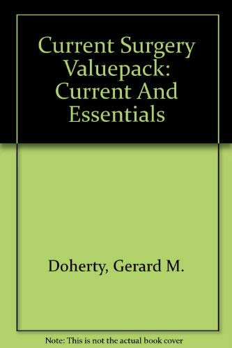 9780071461146: Current Surgery Valuepack (Current and Essentials) (LANGE CURRENT Series)