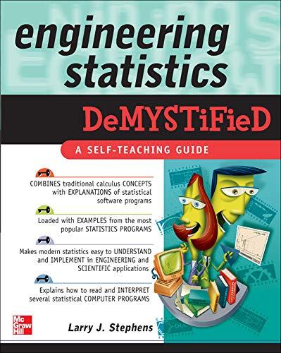 9780071462723: Engineering Statistics Demystified