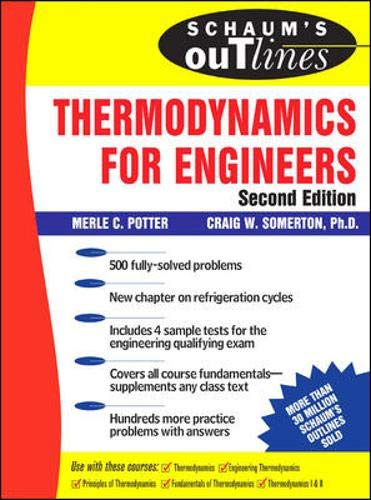 9780071463065: Schaum's Outline of Thermodynamics for Engineers, 2nd edition (Schaum's Outline Series)