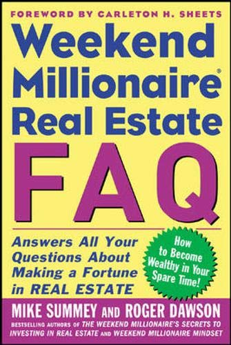 9780071463072: Weekend Millionaire's Frequently Asked Real Estate Questions