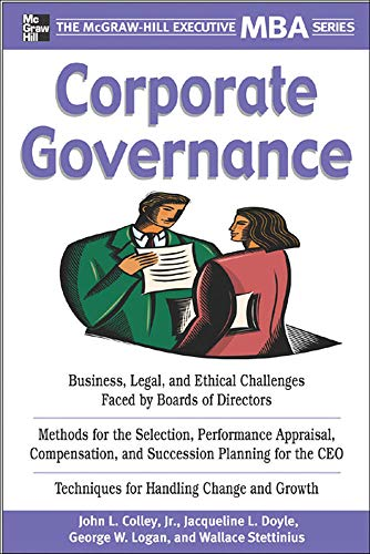 9780071464000: Corporate Governance (McGraw-Hill Executive MBA Series)