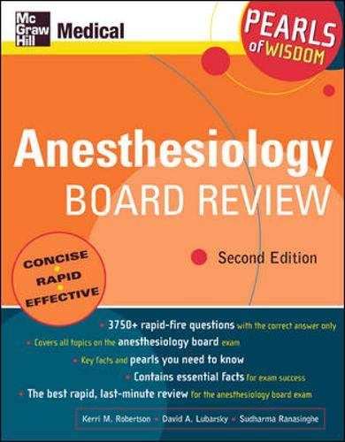 9780071464123: Anesthesiology Board Review: Pearls of Wisdom