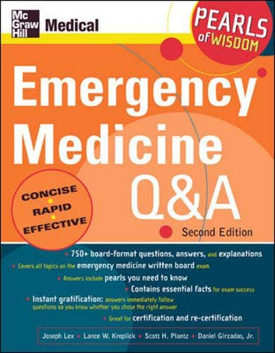 9780071464277: Emergency Medicine Q And A: Pearls of Wisdom, Second Edition