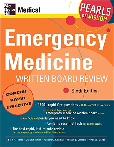 9780071464284: Emergency Medicine Written Board Review: Pearls of Wisdom, Sixth Edition
