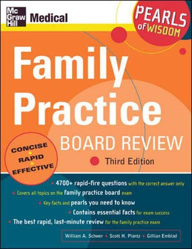 9780071464291: Family Practice Board Review: Pearls of Wisdom, Third Edition