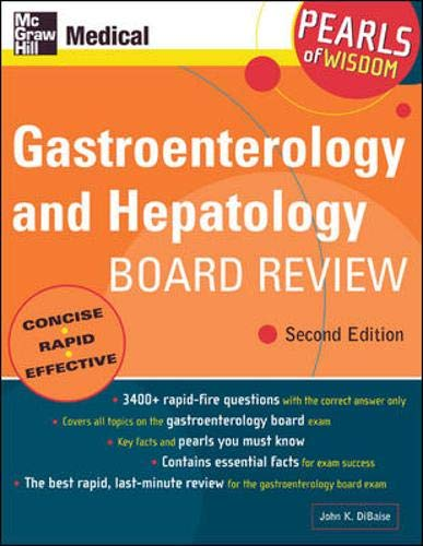 9780071464307: Gastroenterology and Hepatology Board Review: Pearls of Wisdom, Second Edition
