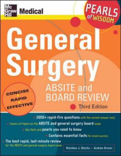 9780071464314: General Surgery ABSITE and Board Review (Pearls of Wisdom)