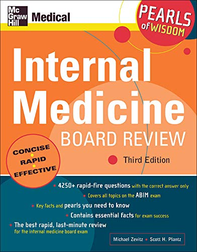 9780071464321: Internal Medicine Board Review: Pearls of Wisdom, Third Edition