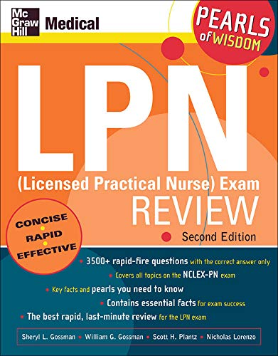9780071464338: LPN (Licensed Practical Nurse) Exam Review: Pearls of Wisdom, Second Edition