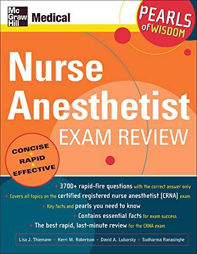 9780071464369: Nurse Anesthetist Exam Review: Pearls of Wisdom