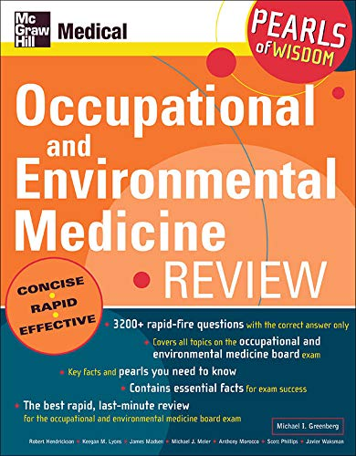 9780071464383: Occupational and Environmental Medicine Review: Pearls of Wisdom
