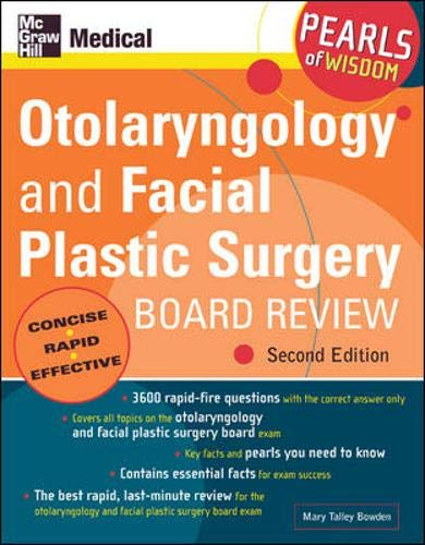 9780071464406: Otolaryngology and Facial Plastic Surgery Board Review: Pearls of Wisdom, Second Edition