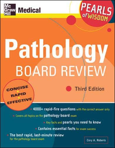 9780071464420: Pathology Board Review: Pearls of Wisdom, Third Edition