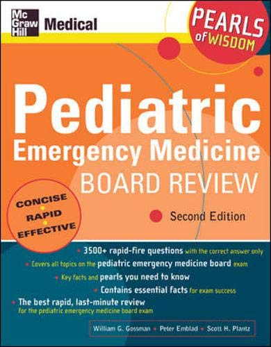 9780071464437: Pediatric Emergency Medicine Board Review: Pearls of Wisdom