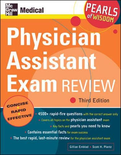 9780071464451: Physician Assistant Exam Review: Pearls of Wisdom, Third Edition