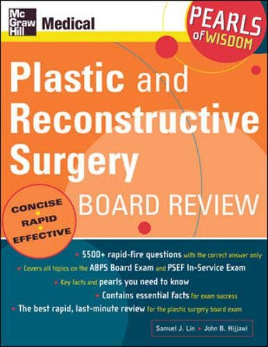 9780071464475: Plastic and Reconstructive Surgery Board Review (Pearls of Wisdom)