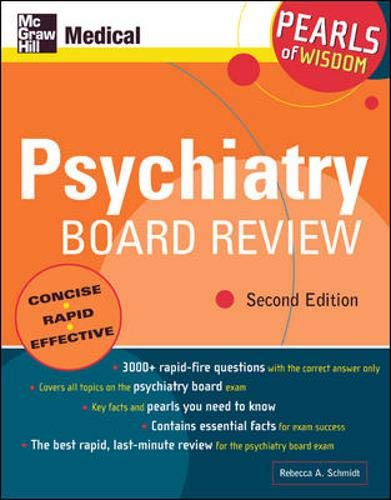 9780071464505: Psychiatry Board Review: Pearls of Wisdom, Second Edition