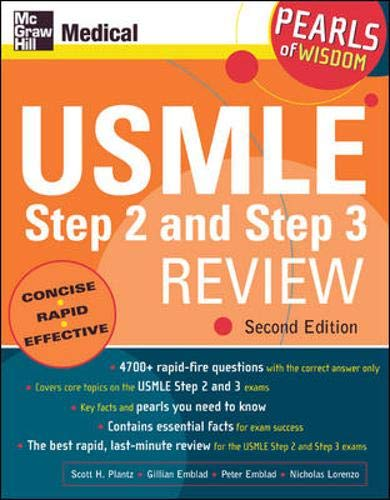 9780071464550: USMLE Step 2 and Step 3 Review: Pearls of Wisdom, Second Edition